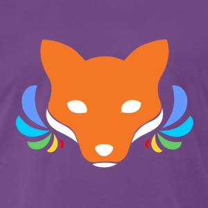 Rainbow Fox T-Shirts - Men's Premium T-Shirt