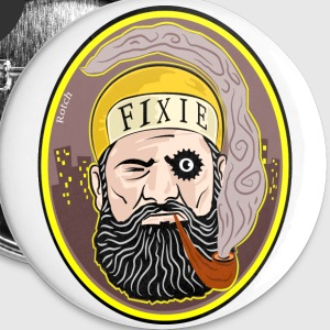 Fixie Pirate - Badge grand 56 mm