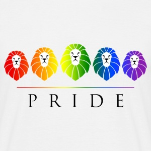 Gay Pride of Lions - LGBT Rainbow T-Shirts - Men's T-Shirt