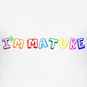 I'm Mature (immature) Multicolour T-Shirts - Men's Slim Fit T-Shirt