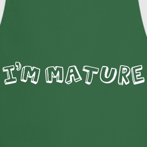 I'm Mature (immature) Mono  Aprons - Cooking Apron