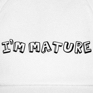 I'm Mature (immature) Mono Caps & Hats - Baseball Cap