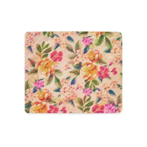 Vintage Glitched Pastel Flowers - Phone Case Other - Mouse Pad (horizontal)