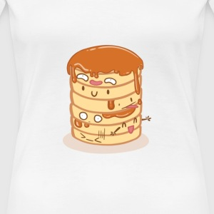 Weiß Pancake Party T-Shirts - Frauen Premium T-Shirt