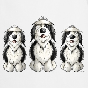 Three Old English Sheepdogs  Aprons - Cooking Apron