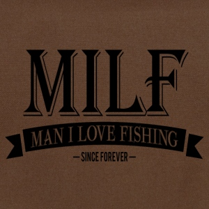 MILF / Man I Love Fishing / black Bags & Backpacks - Shoulder Bag