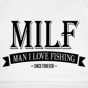 MILF / Man I Love Fishing / black Caps & Hats - Baseball Cap
