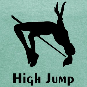 high jump - women - Women's T-shirt with rolled up sleeves
