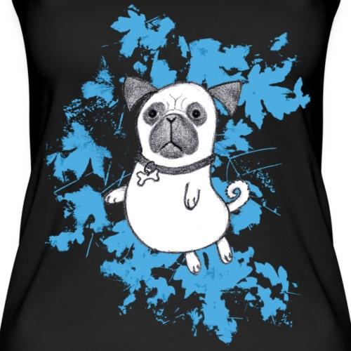Mops blau / Pug blue