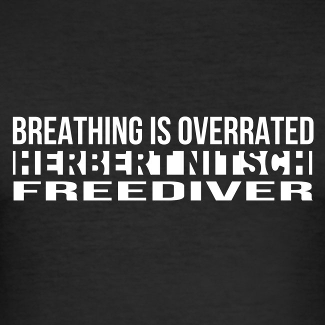 Breathing is Overrated - Short T - white print