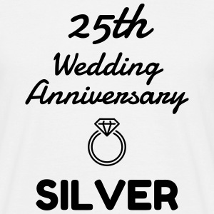 25 Silver - Birthday Wedding - Marriage - Love T-Shirts - Männer T-Shirt