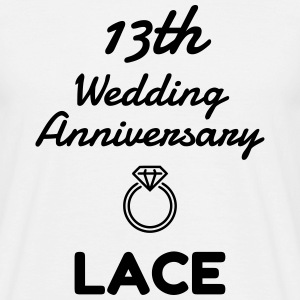 13 Lace - Birthday Wedding - Marriage - Love T-Shirts - Men's T-Shirt