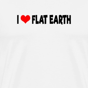 I Love Flat Earth - Männer Premium T-Shirt