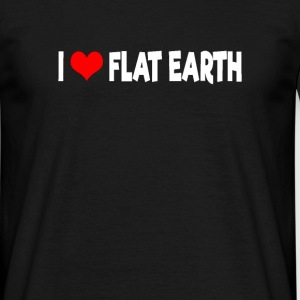 I Love Flat Earth - Männer T-Shirt