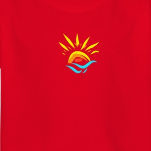 Sun and sunset over the sea in summer - Kids' T-Shirt