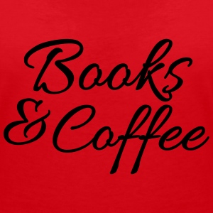 Books and coffee T-shirts - Vrouwen T-shirt met V-hals