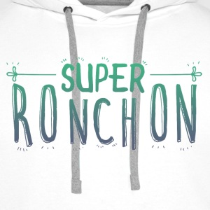 super ronchon vert Sweat-shirts - Sweat-shirt à capuche Premium pour hommes