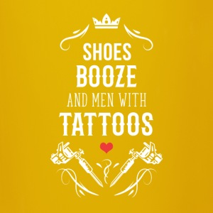 Shoes booze and men with tattoos T-Shirt Mugs & Drinkware - Full Colour Mug