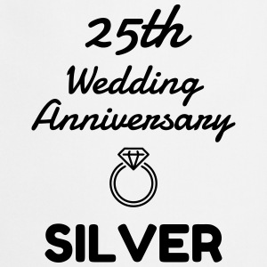 25 Silver - Birthday Wedding - Marriage - Love  Aprons - Cooking Apron