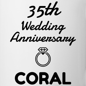 35 Coral - Birthday Wedding - Marriage - Love Muggar & tillbehör - Mugg