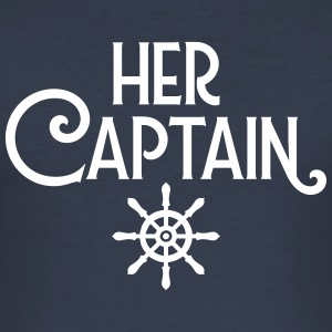 Her Captain - His Mermaid (Part 1) T-shirts - Herre Slim Fit T-Shirt