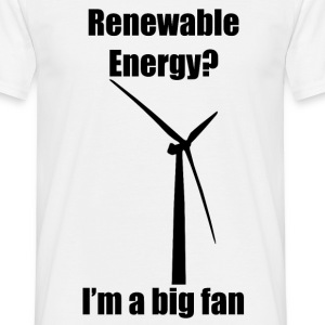 Renewable Energy T-Shirt (Black) - Men's T-Shirt