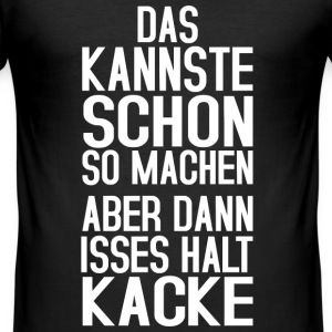 Kacke T-Shirts - Männer Slim Fit T-Shirt