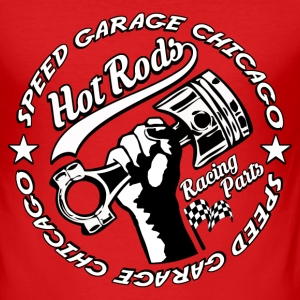 Hot Rods Racing Parts2 Tee shirts - Tee shirt près du corps Homme