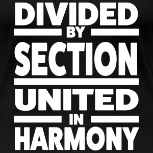 Divided by section - United in Harmony T-shirts - Vrouwen Premium T-shirt