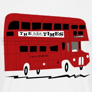 Red London bus - Men's T-Shirt