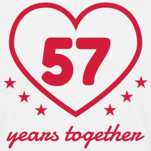 57 - Birthday Wedding - Marriage - Love T-Shirts - Männer T-Shirt