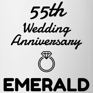 55 Emerald - Birthday Wedding - Marriage - Love Muggar & tillbehör - Mugg
