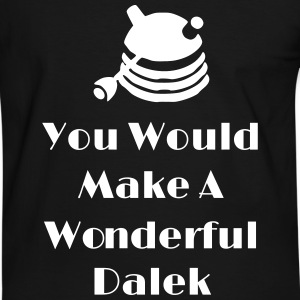 You Would Make A Wonderful Dalek T-shirts - Mannen contrastshirt