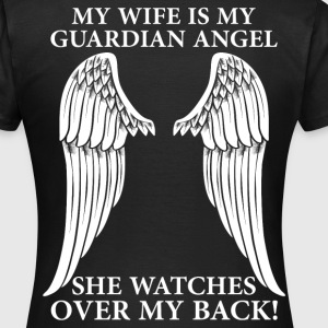 My Wife Is My Guardian Angel T-Shirts - Women's T-Shirt