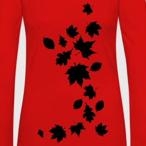 Herbstlaub Maple Leaf Baum Autumn Indian summer - Frauen Premium Langarmshirt
