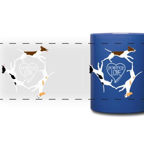 Three pointers heart mug