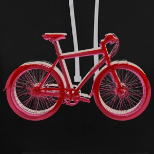Fahrrad Outdoor Fun Amsterdam City Bike Natur - Kontrast-Hoodie