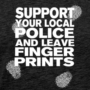 Support The Police - Leave Fingerprints White - Männer Premium T-Shirt