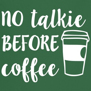 No Talkie Before Coffee Tabliers - Tablier de cuisine