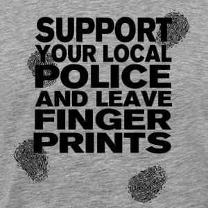 Support Your Local Police - Fingerprints Black - Männer Premium T-Shirt