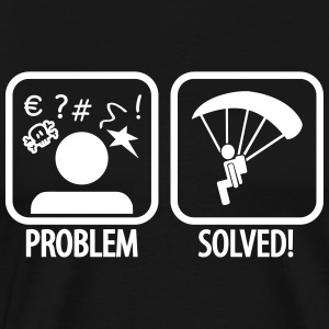 problem solved skydiving T-shirts - Herre premium T-shirt