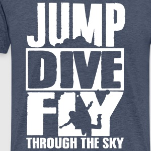 skydiving: jump dive fly through the sky T-Shirts - Männer Premium T-Shirt