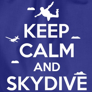 keep calm and skydive Borse & zaini - Sacca sportiva