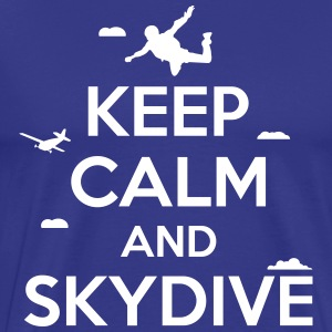 keep calm and skydive T-shirts - Herre premium T-shirt