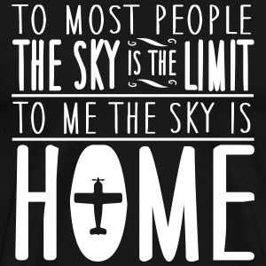 skydiving: sky is home, not the limit T-shirts - Mannen Premium T-shirt