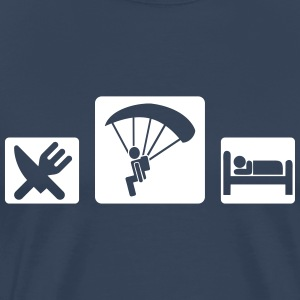 eat sleep skydive T-Shirts - Männer Premium T-Shirt