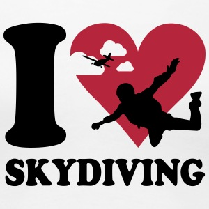 I love skydiving T-Shirts - Frauen Premium T-Shirt