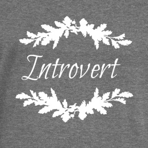 introvert white.png Hoodies & Sweatshirts - Women's Boat Neck Long Sleeve Top