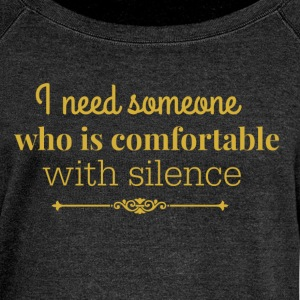 silence gold.png Hoodies & Sweatshirts - Women's Boat Neck Long Sleeve Top