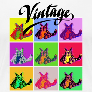 Vintage 3 / Colour Cats - Frauen Premium T-Shirt